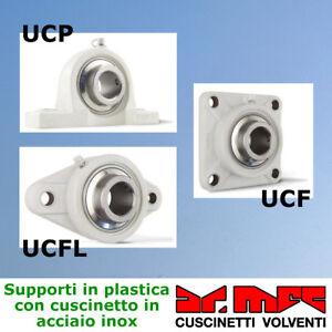 Supporto-in-plastica-serie-UCP-completo-di-cuscinetto-in-acciaio-inox