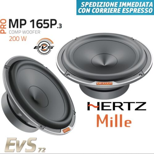 Hertz Mp 165P.3 Coppia Woofer 165 mm 16,5 cm 200W 3Ω Ohm Linea Mille Pro NUOVI