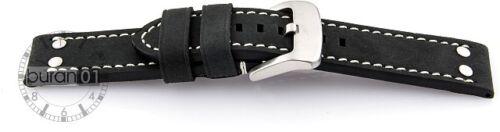 Cuir Véritable Fort Brun 20 22 24mm Bracelet Montre de Aviateur Dorn