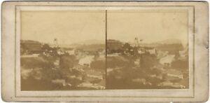 Panorama Da Bern Suisse Foto Stereo Vintage Albumina Ca 1860