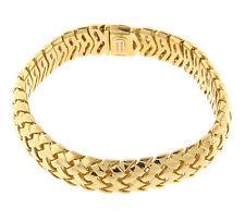 Tiffany & Co. Vannerie Basket weave Bracelet 18k Yellow Gold Retired