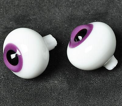 Good 12MM Dark Pink Glass BJD Eyes outfits For DOD DZ AOD Volks Doll