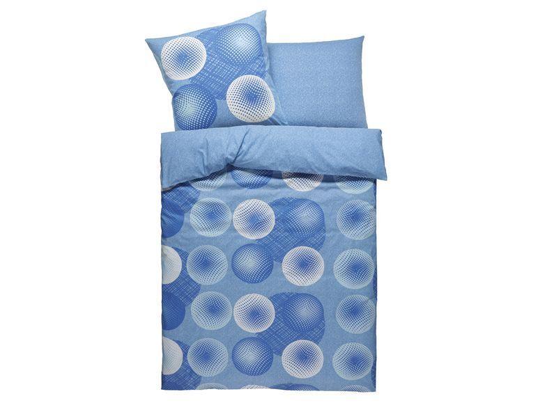 3 tlg.  BETTWÄSCHE  BAUMWOLLE Renforce' Kreise  blau blau blau  Wende Motiv Neu LN 219 | Attraktiv Und Langlebig  c0328e