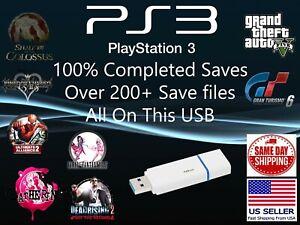 Unlocked Playstation 3 Usb Drive 200 Save Files Ps3 Save Gta Not Games Ebay