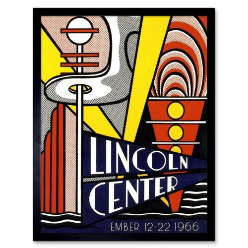 Advert Music Venue Lincoln Center Opera House New York Usa 12X16 Framed Print