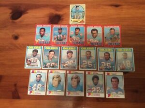 Lot of 17 Trading Cards -  1970 - 73 Topps FOOTBALL Houston Oilers (AFC) Various