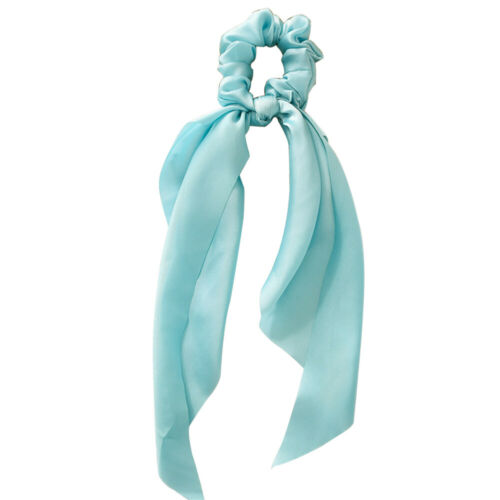 Bow Satin Long Ribbon Ponytail Scarf Hair Band Tie Scrunchies Elastic Hair Rope