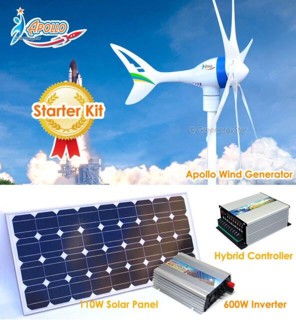 650 W 12 V Wind Turbine Generator+1000 W Controller+600 W Inverter+220 W Solar