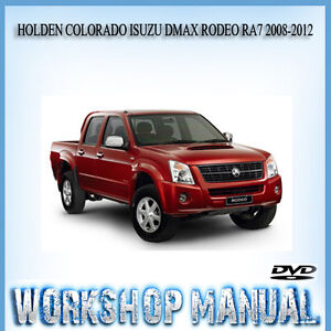 Superb Holden Colorado Isuzu Dmax Rodeo Ra7 2008 2012 Workshop Parts Wiring 101 Mecadwellnesstrialsorg