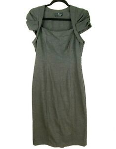 Cue-Women-039-s-Size-10-Grey-Work-Corporate-Business-Sheath-Dress