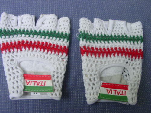 Cycling Gloves Italy Red White Green S to XL Cotton//Leather