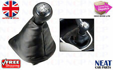PEUGEOT 207 307 406 GEAR SHIFT  BLACK LEATHER STICK GAITER CHROME KNOB 5 SPEED