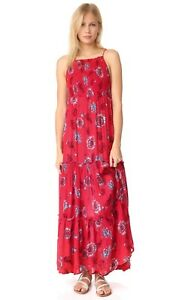 548dbfe6365 Free People Garden Party Maxi Dress Tiered OB580623 Red SMALL  128 ...