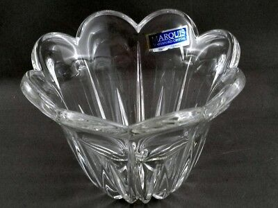 "Marquis by Waterford Tulip Votive 3.25"" Cut Crystal w Scalloped Edge Bowl"
