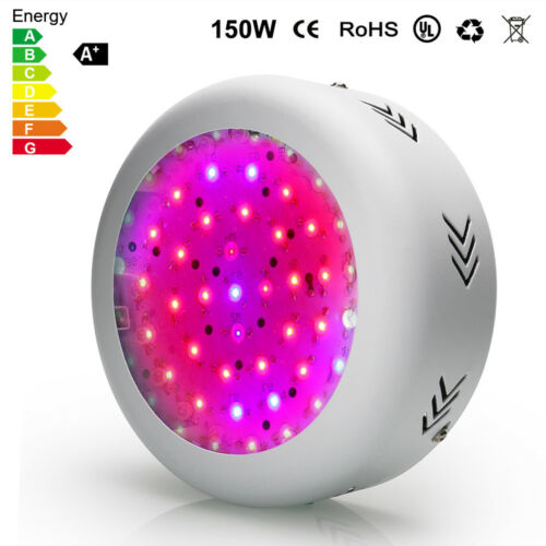 150W  UFO LED Grow Pflanzenlampe Voll Spektrum für Gewächshaus Pflanze Bluete