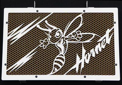"""Cache / Grille De Radiateur Inox Poli 600 Hornet 07>14 """"frelon"""" V2+ Grill. Or"""