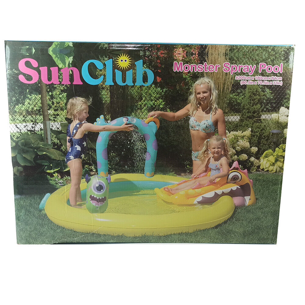 Inflatable Pool Games Monsters 205 X 180 X 84 CM Slide Splash Children 3441