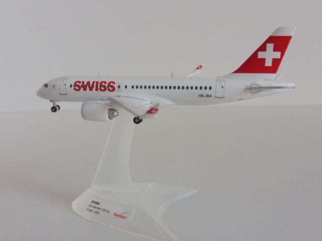 Bombardier CS100 SWISS INTERNATIONAL AIR LINES 1/400 Herpa 562522-001  C-Series