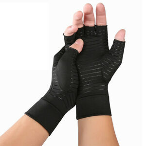 Copper Fit Arthritis Gloves Compression Hand Support Joint Pain Relief 1 Pair