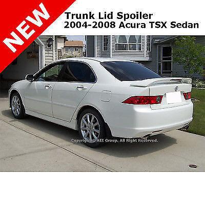 For Acura TSX 4Dr Sedan 04-08 ABS Trunk Aero Rear Wing Spoiler Unpainted Primer