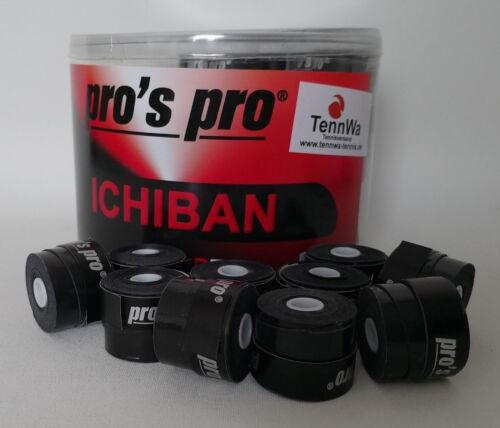 TennWaTipp 10er Pack Pros Pro Ichiban Griffband Overgrip 0,6mm Schwarz