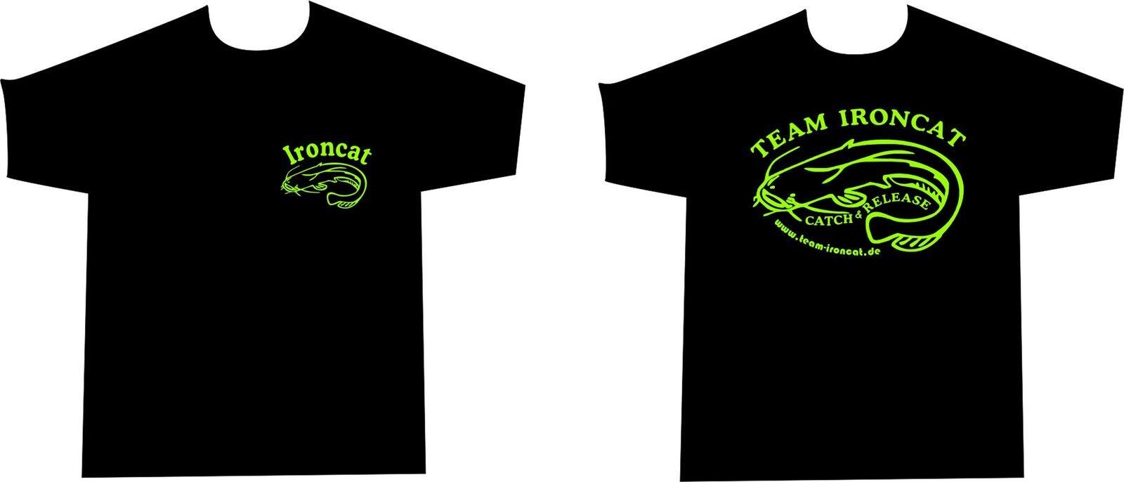 Team Ironcat T-Shirt Kapu Hoodie für Angler Angeln Wels Waller Schaidfisch    Authentisch