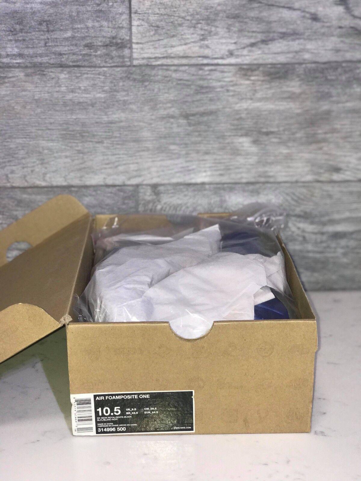 Air Foamposite Blue One Dk Neon Royal Blue Foamposite Size 10.5 5c0dd0