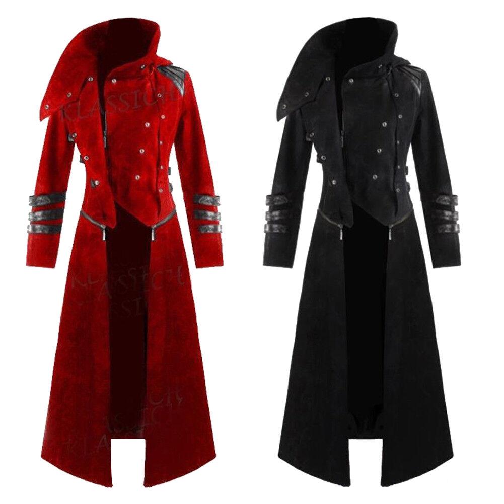 Cn _ Vintage Lang Stil Reißverschluss Herren Winter Enge Passform Mantel