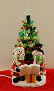 Ceramic Christmas Tree Nostalgic Retro Lighted & Caroling Snowmen New In Box | eBay