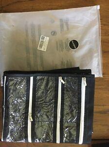 Hanging Jewelry Organizer 44 Zipper Pockets Hanger System F4 eBay
