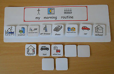 MY MORNING ROUTINE BOARD helps you child with their morning schedule asd/sen/