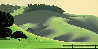"""Eyvind Earle     """"Soft Green Meadows""""    MAKE  OFFER    DSS"""