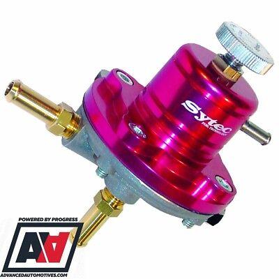 Sytec Motorsport Adjustable Fuel Pressure Regulator Injection 8mm Red