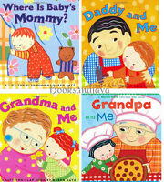 Where Is Baby's Mommy,daddy And Me, Grandpa, Grandma 4 Board Books By Karen Katz