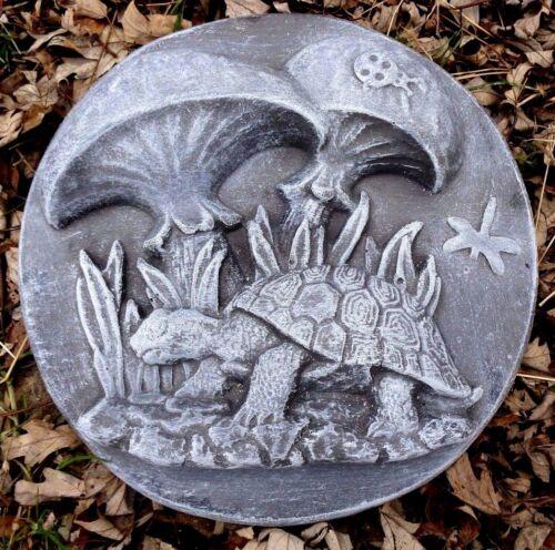 "Turtle mushrooms plaque mold concrete plaster plastic mould 10/"" x up to 1.5/"" T"