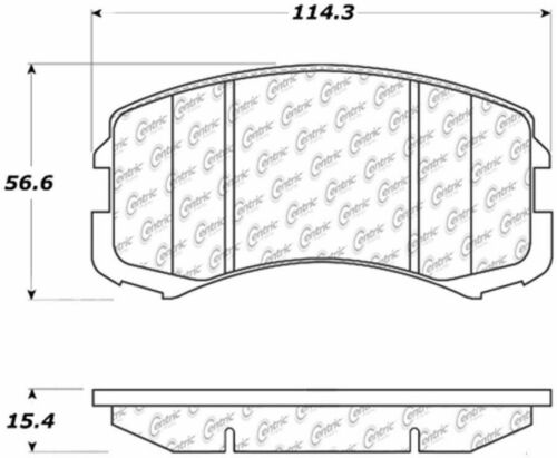 D904 FITS 02-06 MITSUBISHI LANCER BRAND NEW CTEK FRONT BRAKE PADS 102.09040