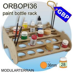 1x-botella-de-pintura-ORBOPI-36-Modular-apilable-Rack-28-pinturas-tamiya-vallejo-Andrea