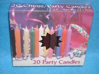 Christmas Angel Chime Candles, Brown, Box Of 20, Nib, 1/2 By 4 Tall