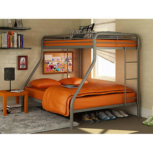 Dorel-Twin-Over-Full-Metal-Bunk-Bed-Multiple-Colors