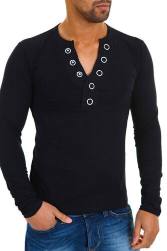 Carisma Herren Langarmshirt mit Knopfleiste Herrenshirt Shirt SALE /%