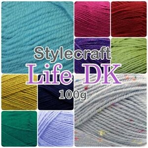 Stylecraft-LIFE-DK-Wool-Mix-Dappled-Flecked-Double-Knitting-Yarn-100g-Balls