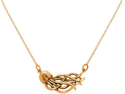 hochwertig GEMSHINE Maritim Nautics Halskette mit Meduse Qualle aus 925 Silber