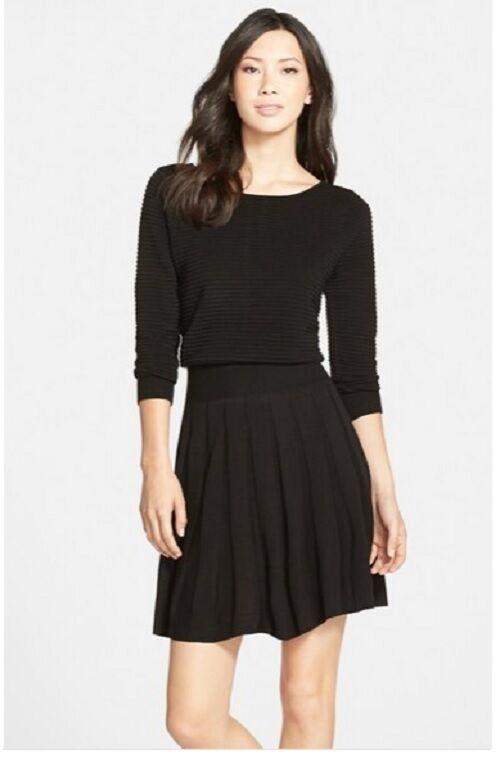 Eliza J Pleated Blouson Sweater Dress (size XL)