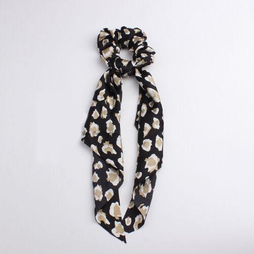 Women Elastic  Hairband Scrunchie Ponytail Scarf Hair Rope Hair Bow   Leopard