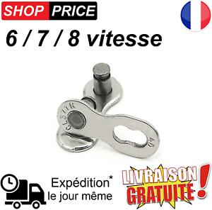 Maillon chaine de vélo VTT boucle attache rapide 6//7//8 vitesse