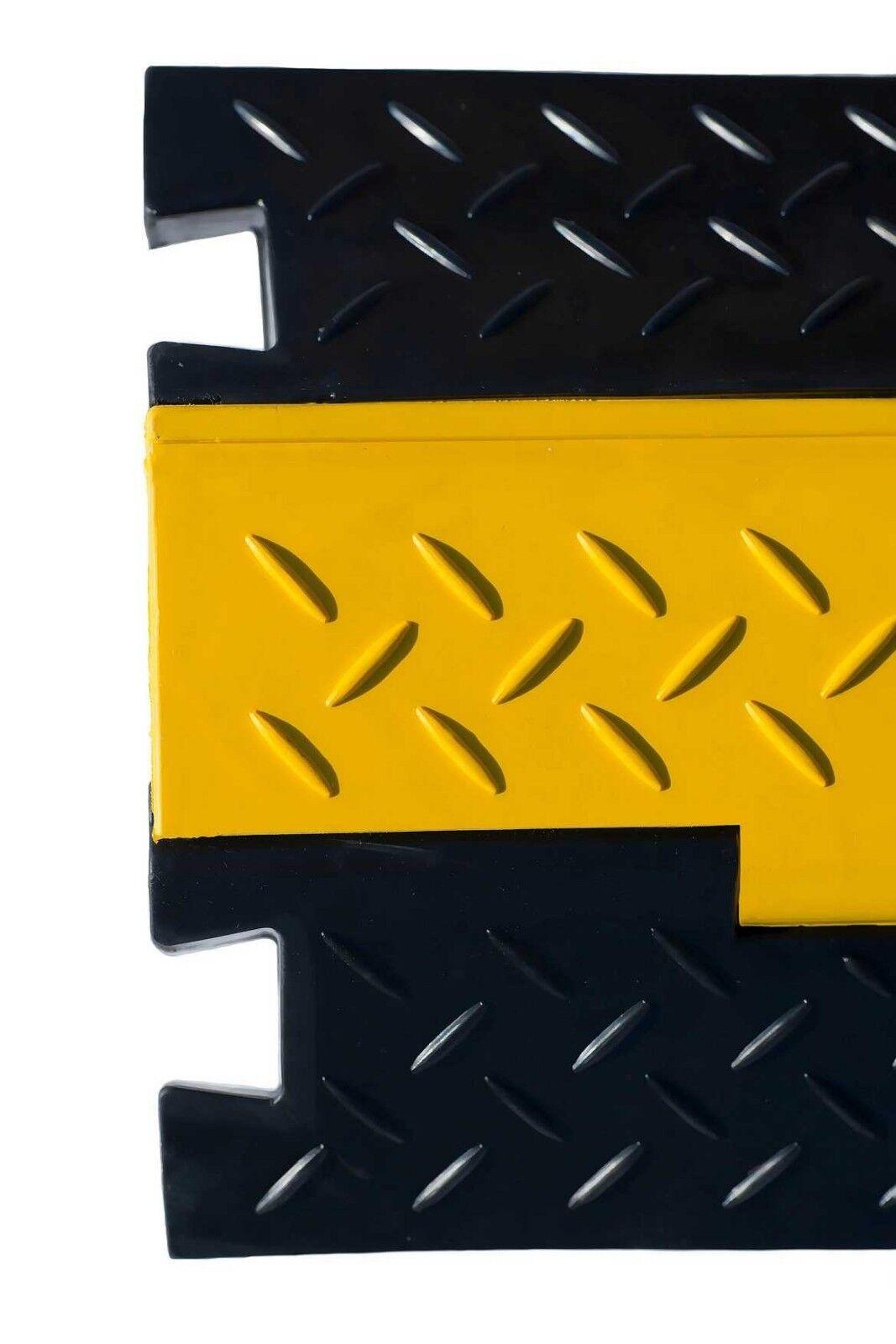 Hell 10x 2 Kanal Kabelbrücke Eco Kabelkanal Gummibrücke Cable Protector Kabelschutz Baustellengeräte & -ausrüstung Musikinstrumente