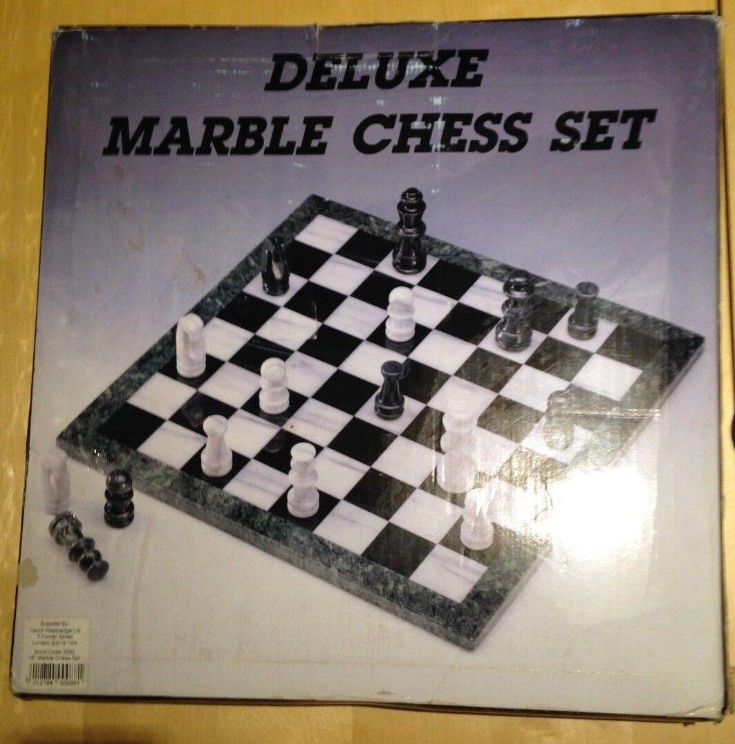 David westnedge verde y juego de ajedrez de mármol blancoo - 18  - Nueva En Caja De Placa