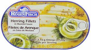 Rugen-Fisch-Herring-Fillets-in-Mustard-Sauce-200g-7-05oz-Can-Free-Shipping