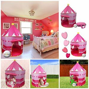 Image is loading Fairy-Princess-Castle-Play-Tent-Indoor-Playground-For-  sc 1 st  eBay & Fairy Princess Castle Play Tent Indoor Playground For Kids Play ...