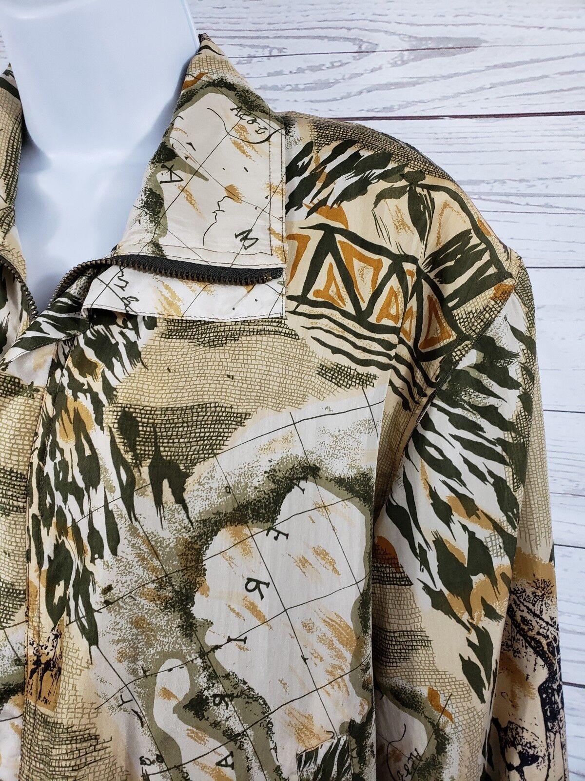 Coaco 100% Silk Small Jacket Multi Color Full Zip… - image 2